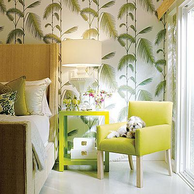 Cole & Son tropical wallpaper via Amber Interiors