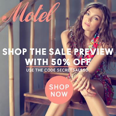 MOTEL ROCKS SECRET SALE. 50% OFF.