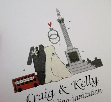 I LOVE Trafalgar Square unique wedding invitation