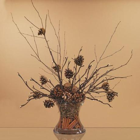 vase1 Fall Color ~ Designing with Brown HomeSpirations