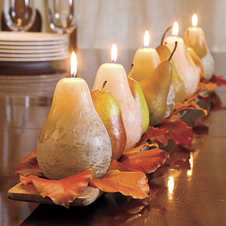 pear candles Fall Color ~ Designing with Brown HomeSpirations