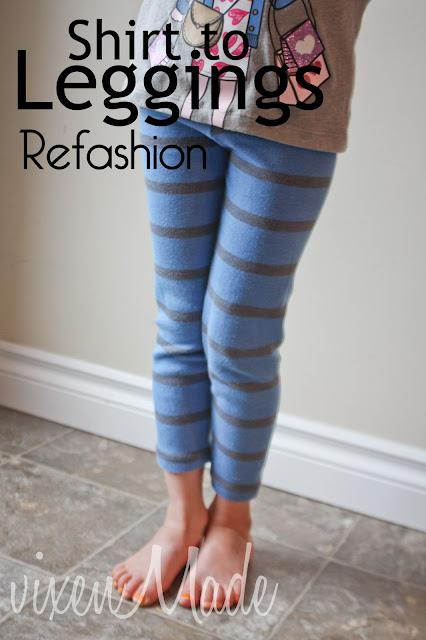 Shirt to Leggings Refashion