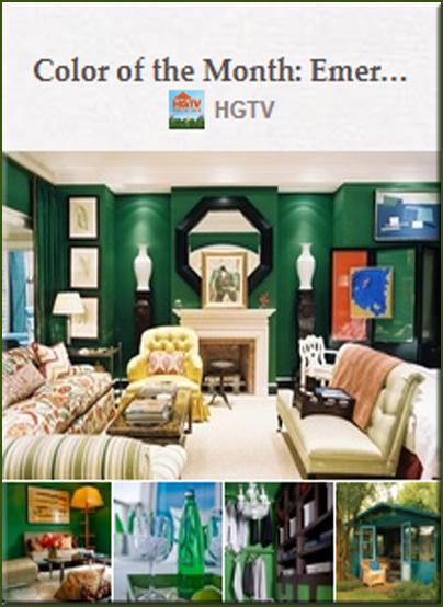 HGTV2 Interior Designing with Pinterest ~ Emerald Green HomeSpirations