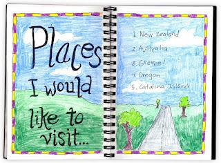 """Places to Visit"" Journal Page"