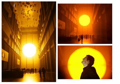 Italy earthquake / Olafur Eliasson: The Weather Project (2003)