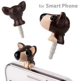 THE DOG Earphone Jack Accessory: Puppies For Your Phone Plug