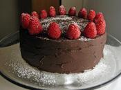 Chocolate Cake with Raspberry Mascarpone Filling Ganache Frosting