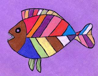 Abstract Fish Drawing