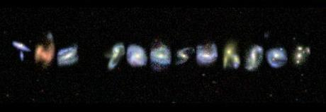 Write Your Own Message In Real Galaxies