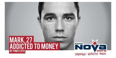 Billboard for Radio Nova Addicted to Music campaign: Addicted to Money