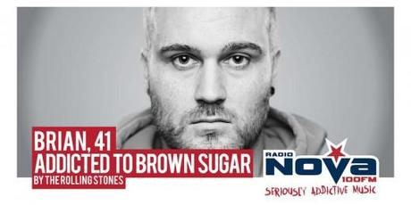 Billboard for Radio Nova Addicted to Music campaign: Brown Sugar