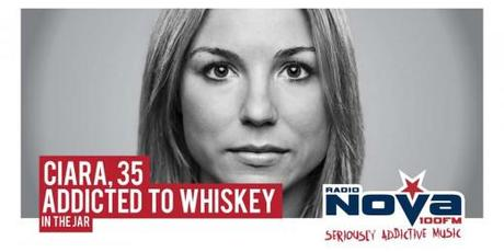 Billboard for Radio Nova Addicted to Music campaign: Addicted to Whiskey