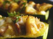 Roasted Potato, Tomato Cheese Stuffed Zucchini