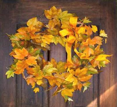 wreath Fall Color ~ Designing with Shades of Yellow HomeSpirations