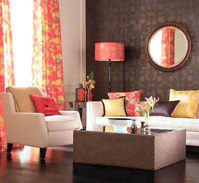 yellow and brown sofa Fall Color ~ Designing with Shades of Yellow HomeSpirations