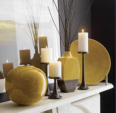 fall mantle Fall Color ~ Designing with Shades of Yellow HomeSpirations