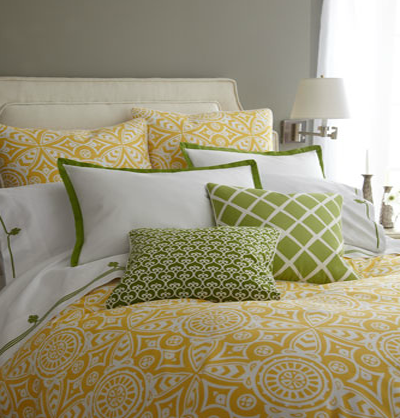 horchow Fall Color ~ Designing with Shades of Yellow HomeSpirations