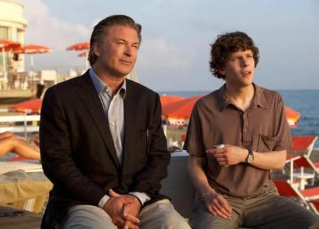 Alec Baldwin and Jess Eisenberg in To Rome With Love.