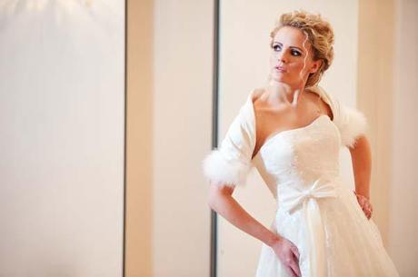 Winter Wedding Cover Ups — Luxurious Fur & Feather Shrugs & Boleros from Wrapor