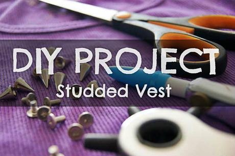 DIY tutorial: Studded Vest by TheMowWay.com