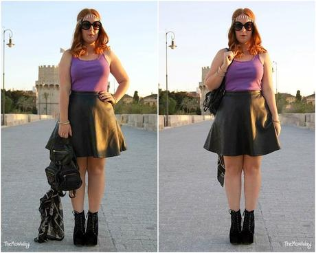 TheMowWay Outfit: DIY studded vest