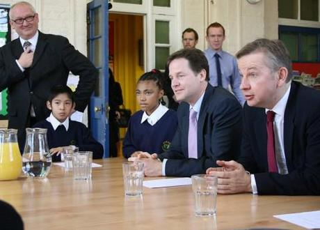 Nick Clegg and Michael Gove on a school visit. Photo Credit: Flickr.