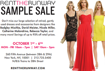 Shopping NYC | Rent the Runway Sample Sale - Paperblog
