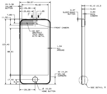 Apple опубликовала конструктивные схемы iPod touch 5G и iPod nano 7G Следом за iPhone 5 официальные разработчики...