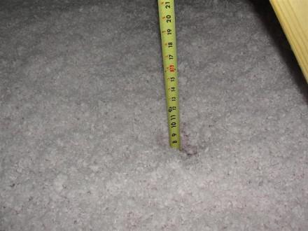Attic - improper insulation depth