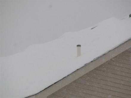 Plumbing vent cap not removed