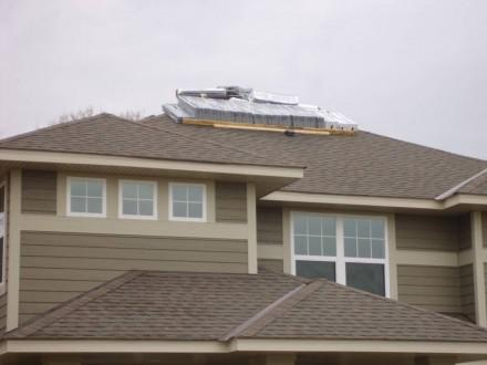 Roofs - shingles delivered on new home