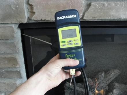 HVAC - leaking exhaust gas at new fireplace