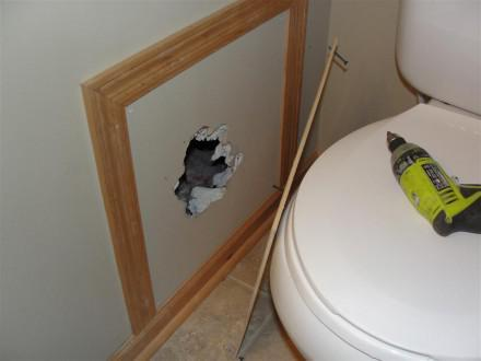 Plumbing - missing access hole