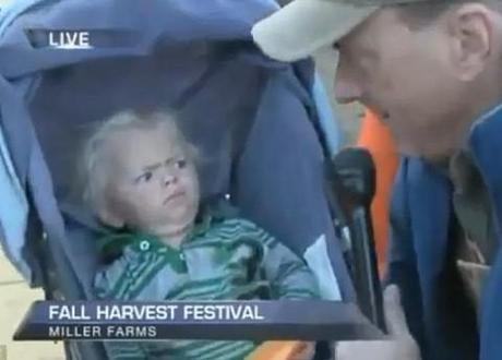 Local reporter makes baby cry on live television