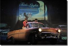 Emma Ritchie plays Sandy Dumbrowski and Skyler Adams is Danny Zuko in Paramount Theatre's 2012-13 Broadway series season opener Grease. (photo credit: Liz Lauren)