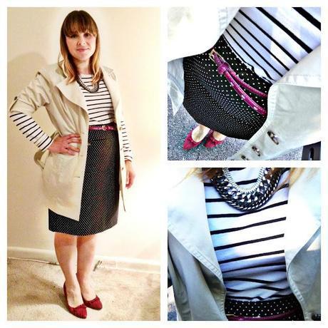 Stylish shape wear: Lisette L polka dot skirt