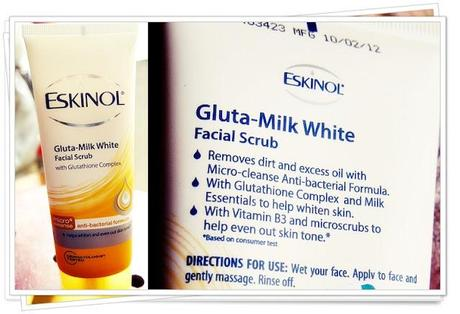 Eskinol Facial Scrubs Review: Gluta-Milk, Oil- Control, Face Lightening and Pore Theraphy