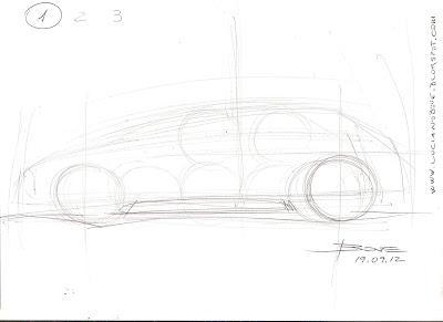 Car sketch tutorial the side view by Luciano Bove