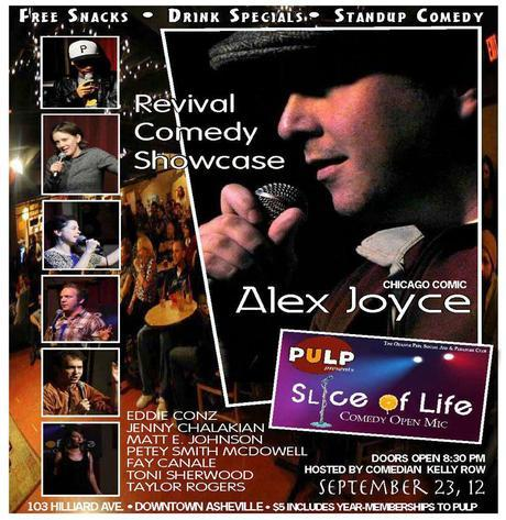Slice of Life Comedy presents Revival Comedy Show featuring Chicago comic Alex Joyce Sunday
