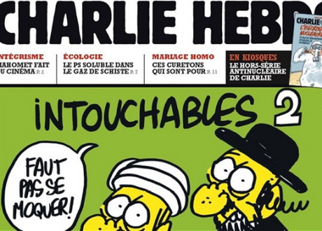 The front page of Charlie Hebdo
