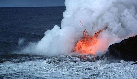 Searing-Hot Lava Crashing Into The Seas Off Hawaii