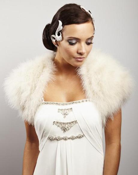 Minnelli Marabou Feather Wedding Shrug by Sasso