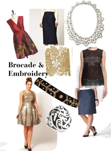 Fall 2012 Runway Fashion Trends - Brocade & Embroidery