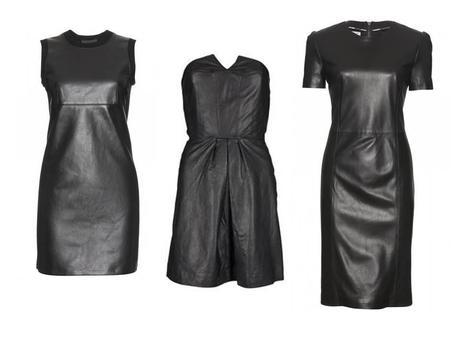 The black leather dress