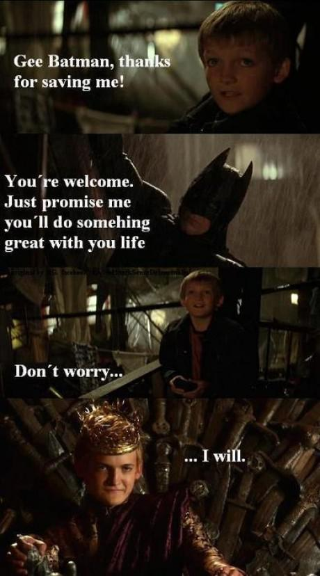 Joffery Batman e1347987024715 13 Best Game of Thrones Memes