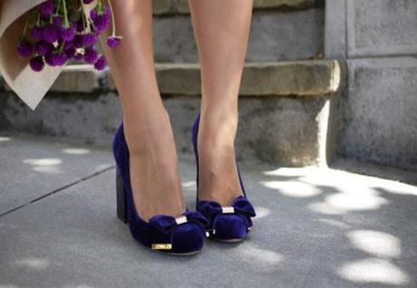 Shoe Crush: Vince Camuto (Velvet Stacked Heels)