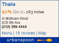 Thalia on Urbanspoon