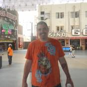 Ken happy on Fremont St  Las Vegas NV