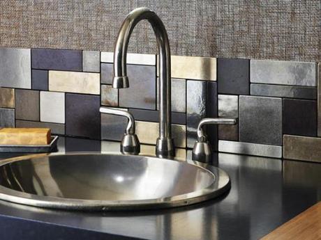 Metal Tile Backsplash