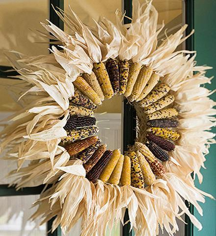 bhg wreath Fall Color ~ Neutral Color Designs and Prize Giveaway HomeSpirations